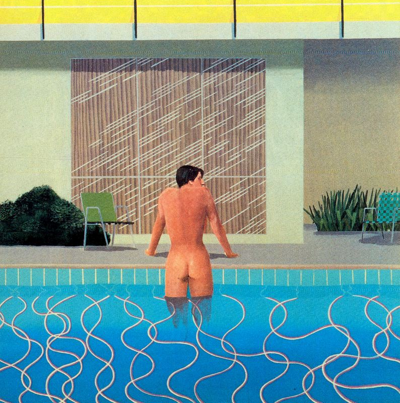 David Hockney - Peter Getting Out of Nick's Pool, 1966, acrylic on canvas
