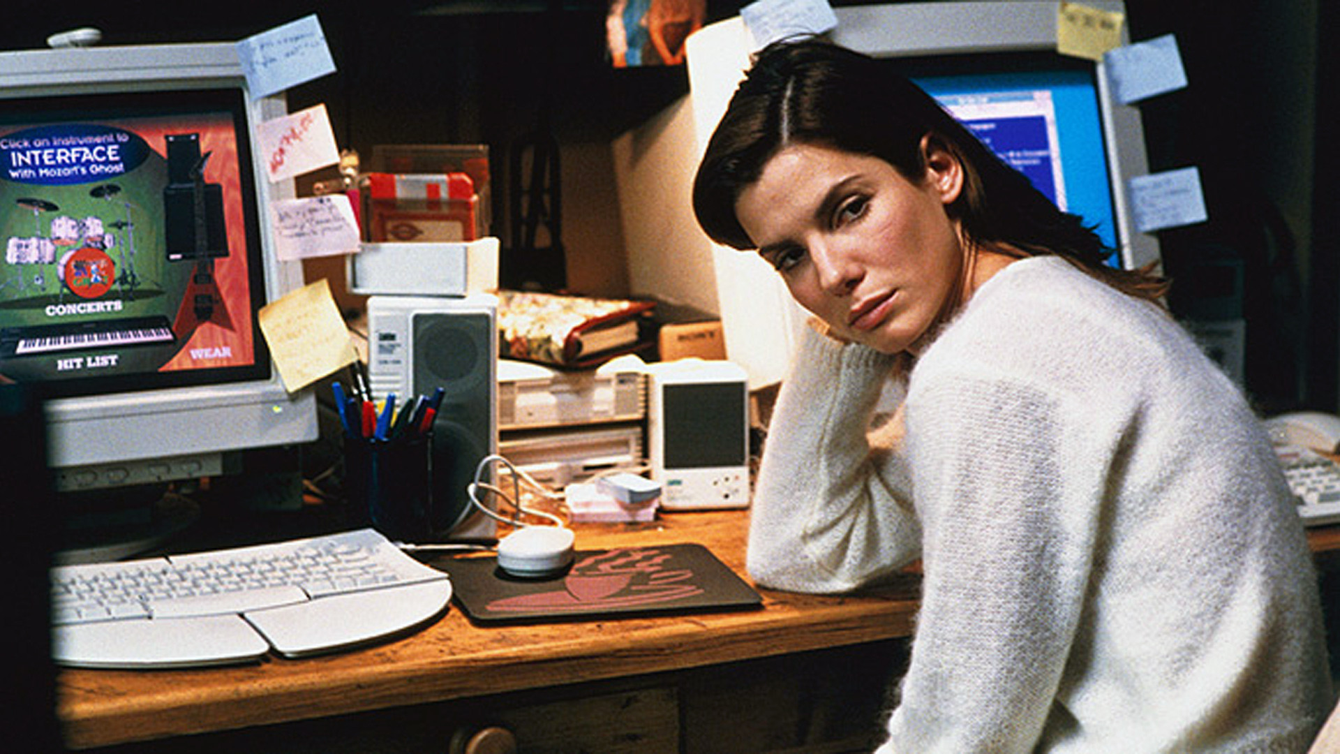 Sandra Bullock in 'The Net', 1995. Was the title a pun?
